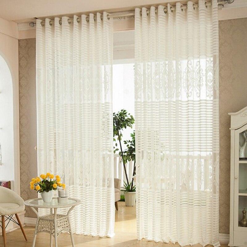 Cortinas de lujo sala de estar cortina blanca del verano for Cortinas para jardin de invierno