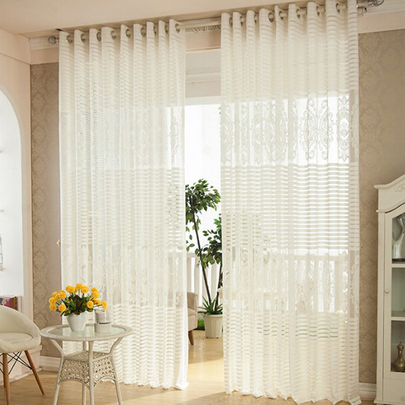 Luxury Curtains For Living Room White Curtain Summer Style Simple Cortina Patterns Tulle Blinds Cortinas Para Sala In From Home Garden On