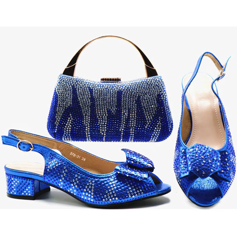 Luxe Noir blue Femmes De or En champagne Fête Décoré Sac Ensemble Nouveau Strass Italienne Italiennes rouge Et À Chaussures Pour Chaussure La Correspondant Avec wHqxUqTgP