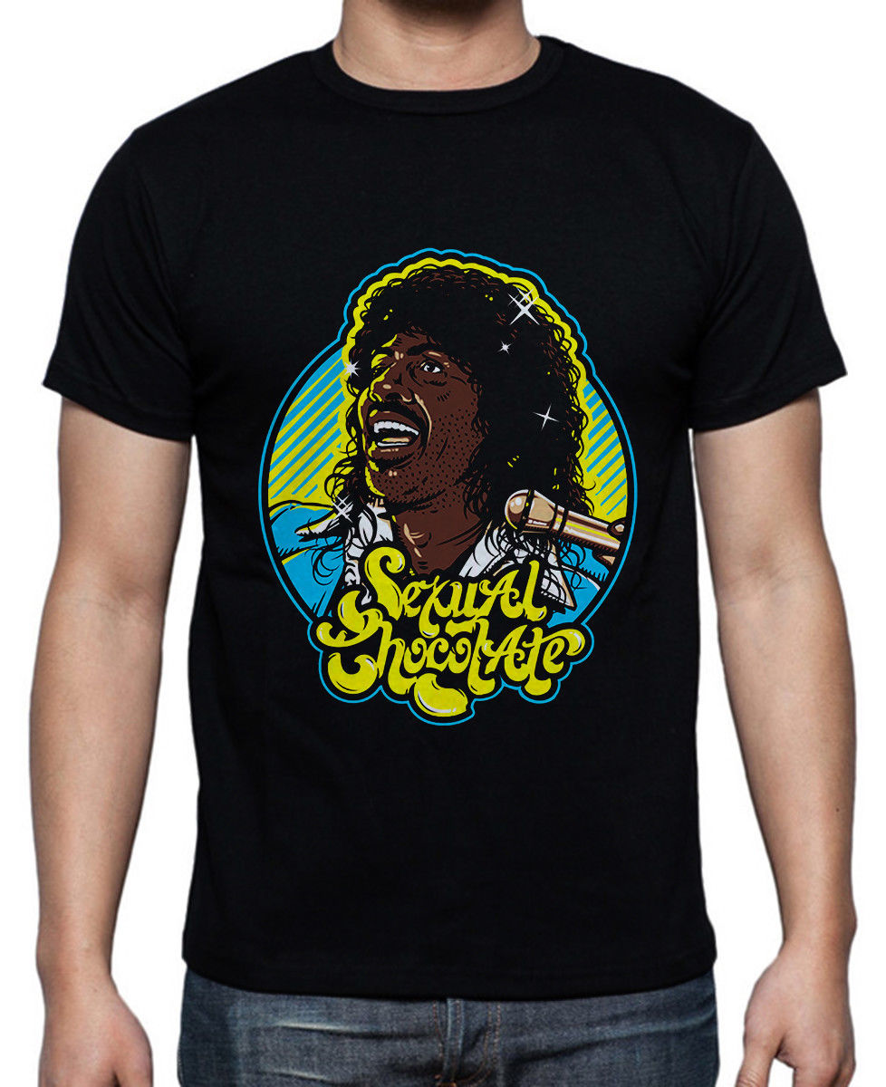 Buy Randy Watson Sexual Chocolate World Tour   Men's black T-shirt size M - 5XL Mens T-Shirt Summer O Neck Cotton 2018
