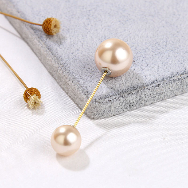 19 High Quality Vintage Gold Brooch Pins Double Head Simulation Pearl Large Big Brooches For Women Wedding Jewelry Accessories 20