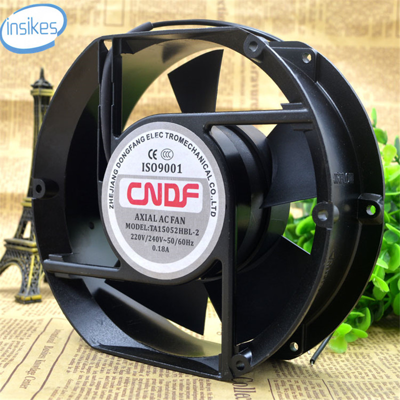 TA15052HBL-2 Axial Cooling Fan AC 220V  0.18A 17252 17CM 172*150*52mm 2 Wires 50/60HZ original s a n j u sj1738ha2 172 150 38mm 220vac 0 31a axial fan