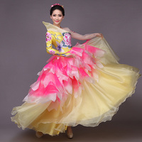 New Girls Ballroom Dance Dress Standard Ballroom Dance Skirts Flamenco Dresses Vestido De Formatura Waltz Dance Dress