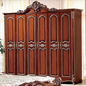 six doors wardrobe Antique  European whole wardrobe French rural furniture wardrobe p10238