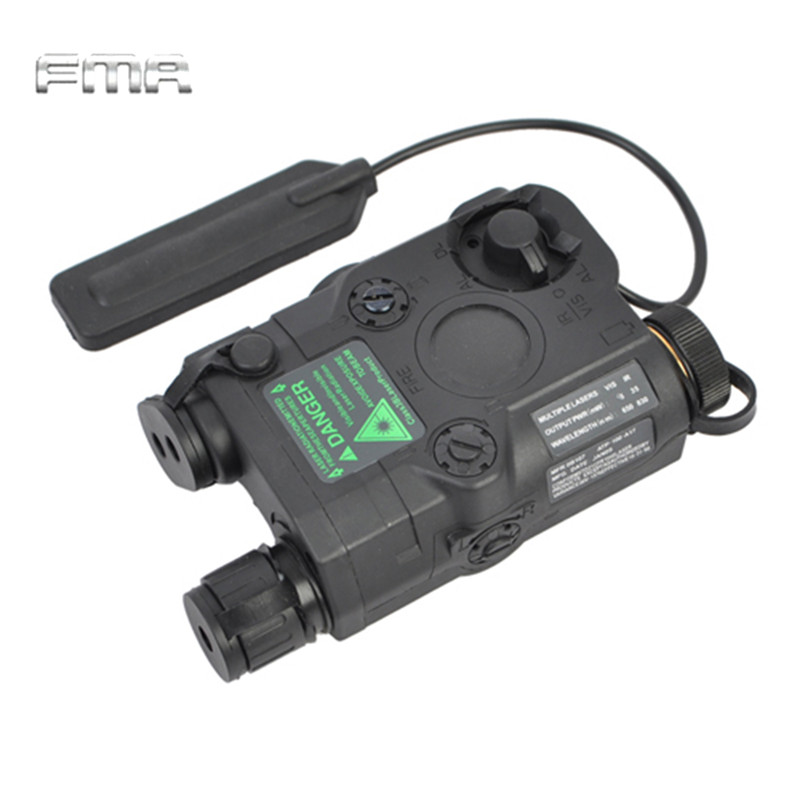 FMA Tactical AN/PEQ-15 Green Dot Laser with White LED Flashlight & IR illuminator Hunting Gun Light Accessory original fma tactical military airsoft an peq 15 battery box laser red dot laser with white led flashlight and ir lens tan bk