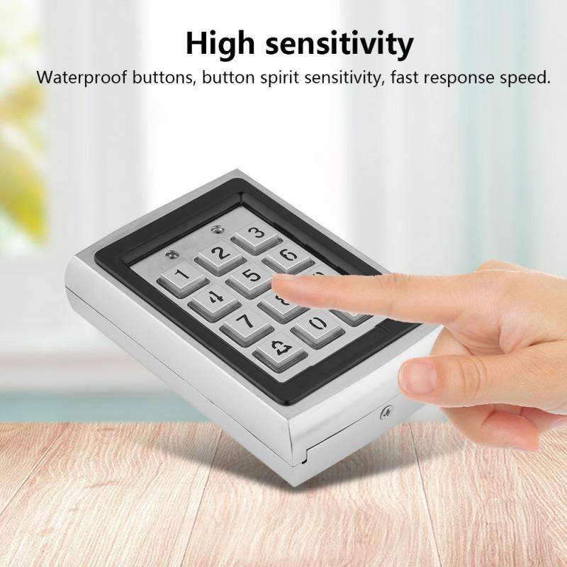 Waterproof Metal Rfid Access Control Keypad With 1000 Users For Home Office Public RFID Door Access Control System EM Card Code tivdio door access control system with 4 rfid waterproof em id card