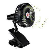 Mini Mute Clamp Fan Rechargeable Silent 4 Blades Baby Stroller Fans Portable Air Cooling 3 Speeds