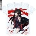 Anime Akame ga Kill T shirts Men Cosplay Akame T-Shirt New Anime t shirts Tops       DT025
