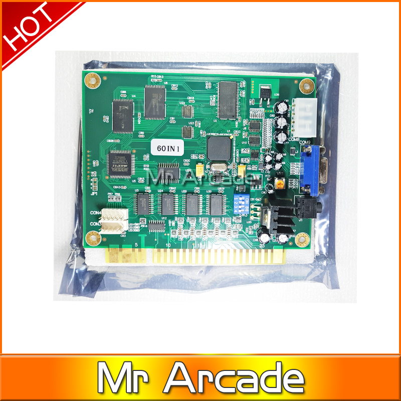 DIY arcade game kit jamma game pcb 60 in 1+28pin Wire harness+POWER ...