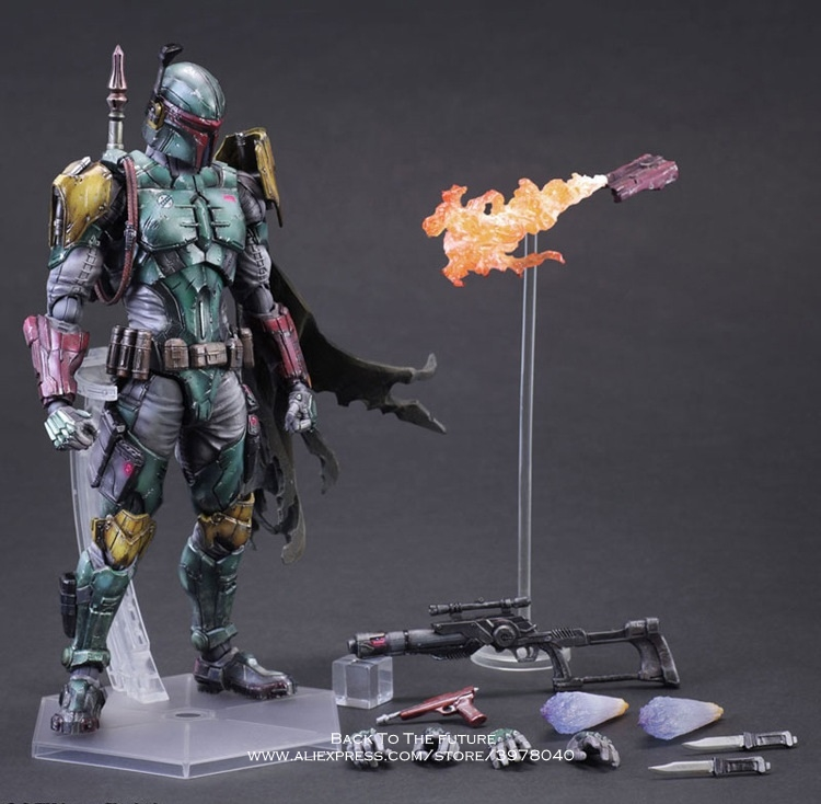 Disney Star Wars Boba Fett 27cm Action Figure Posture Model Anime Decoration Collection Figurine Toys model for children gift cartoon fight hero star model desktop decoration gift