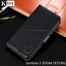 Asus Zenfone 3 ZOOM ZE553KL Case K'try Pu leather Wallet Case Soft Silicone Flip Cover Capa For Asus ZE553KL 5.5'' Phone Case