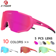 X-TIGER Women 5 Lens Polarized Cycling Glasses Road Bike Cycling Eyewear Cycling Sunglasses MTB Bicycle Cycling Goggle 2019 cheap General 4 1 inch X-YJ-JPC-5 Multi Plastic Acetate Cycling Bike Bicycle Sports Factory Direct Sales Man Women 5 Pcs