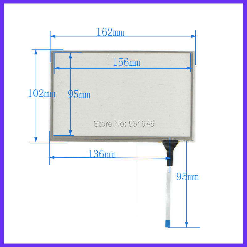 NEW 7.1inch Touch Screen 4 wire resistive USB touch panel overlay kit 162*102 TOUCH SCREEN FOR AT070TN83