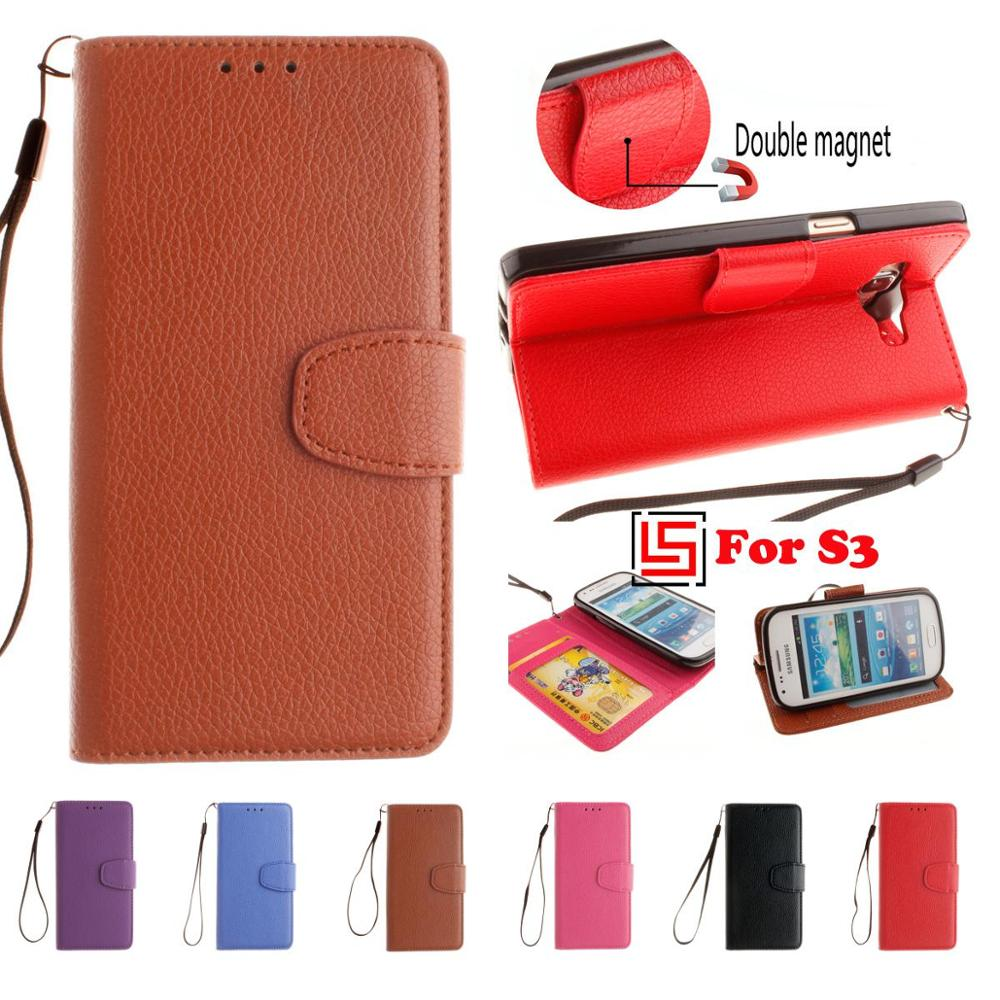 Retro New PU Leather Leathe Flip Wallet Stand Phone Cell Case carcasa cubierta Cover Bag For Samsung Galaxy S3 S III SIII I9305