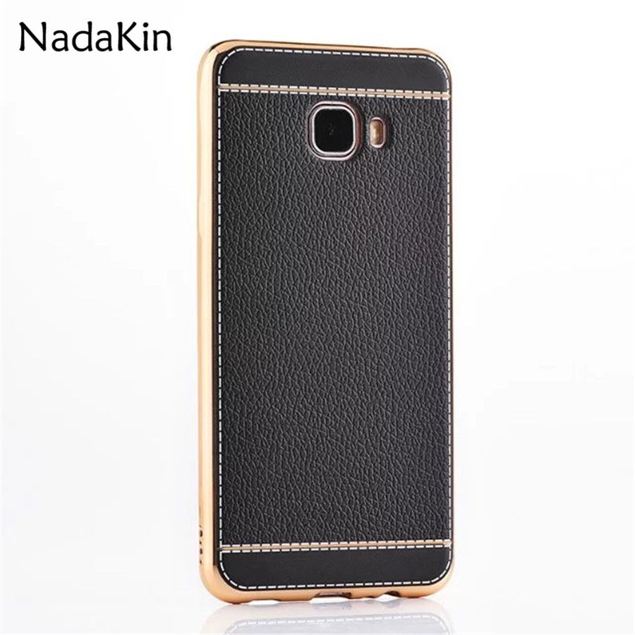 Plating Frame Soft TPU Back Cover Leather Case for Samsung Galaxy J3 J5 J7 Europe Version A3 A5 A7 2016 2017 Note 5 8 C5 C7 Pro