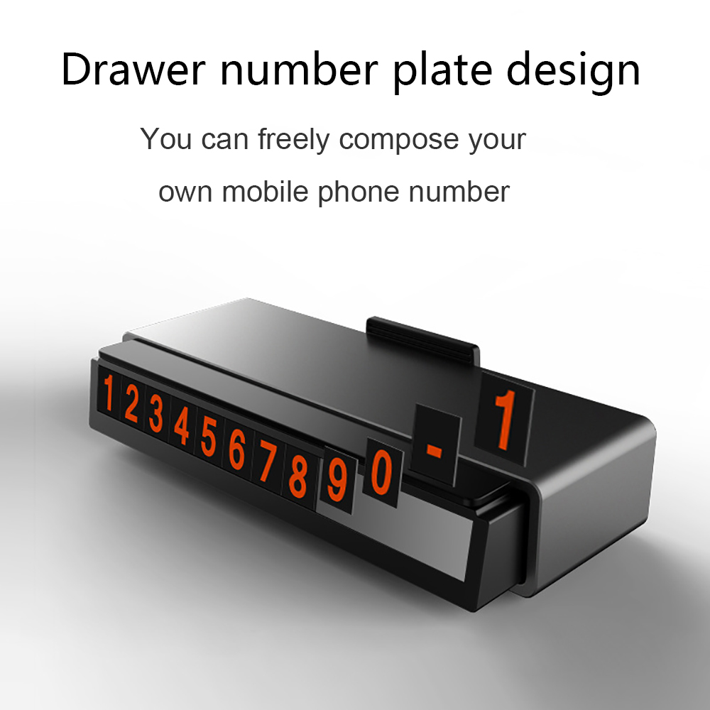 Drawer Style Car Temporary Parking Card Phone Number Plate Hidden Sticker Fine