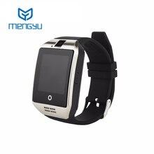 2016ใหม่nfcบลูทูธsmart watch q18ด้วยกล้องfacebookซิงค์SMS MP3 S Mart W Atchสนับสนุนซิมการ์ดTFสำหรับIOS A Ndroid P hone