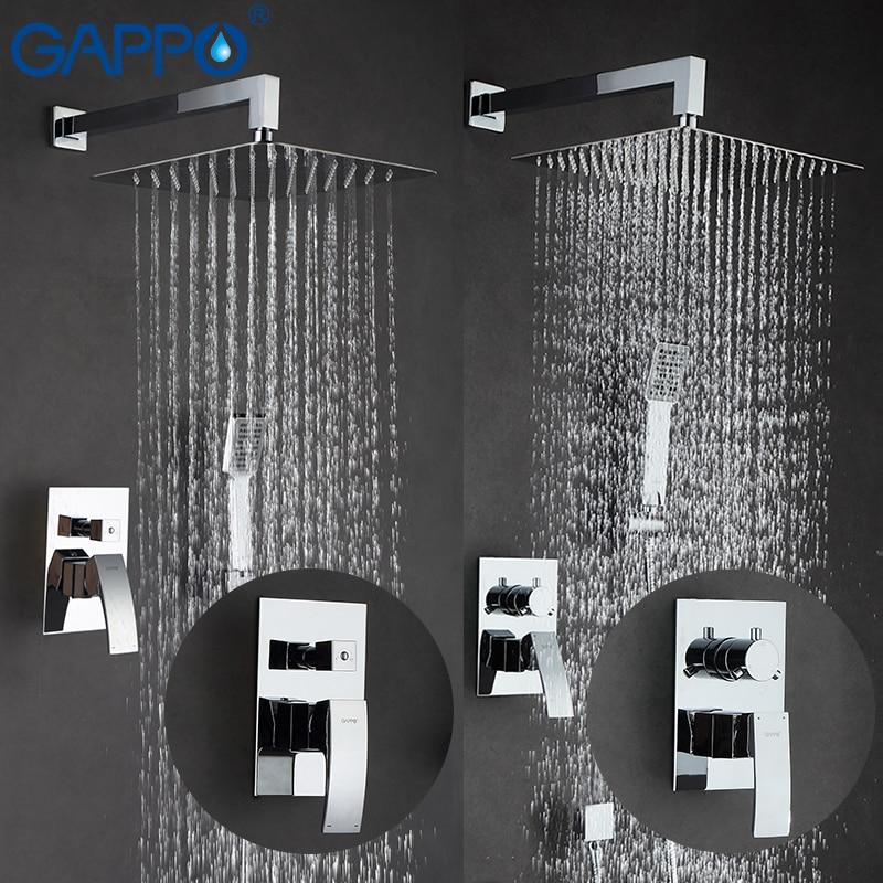 GAPPO douche robinets de bain ensemble de douche pommeau de douche set mixer baignoire d'eau robinet mural robinet de douche système