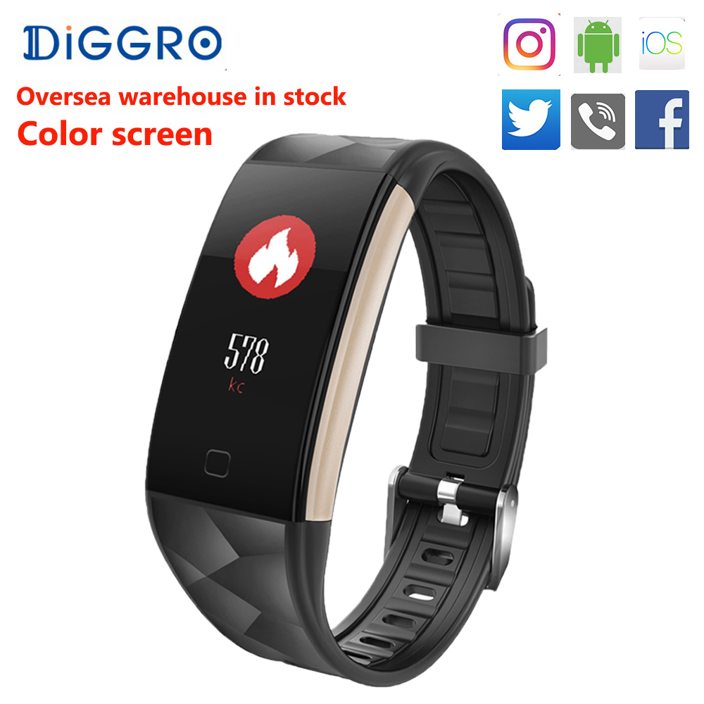 Diggro T20 Smart Wristband Heart Rate Monitor IP67 Sport Fitness Bracelet Tracker Smart band <font><b>Bluetooth</b></font> For Android IOS PK S2