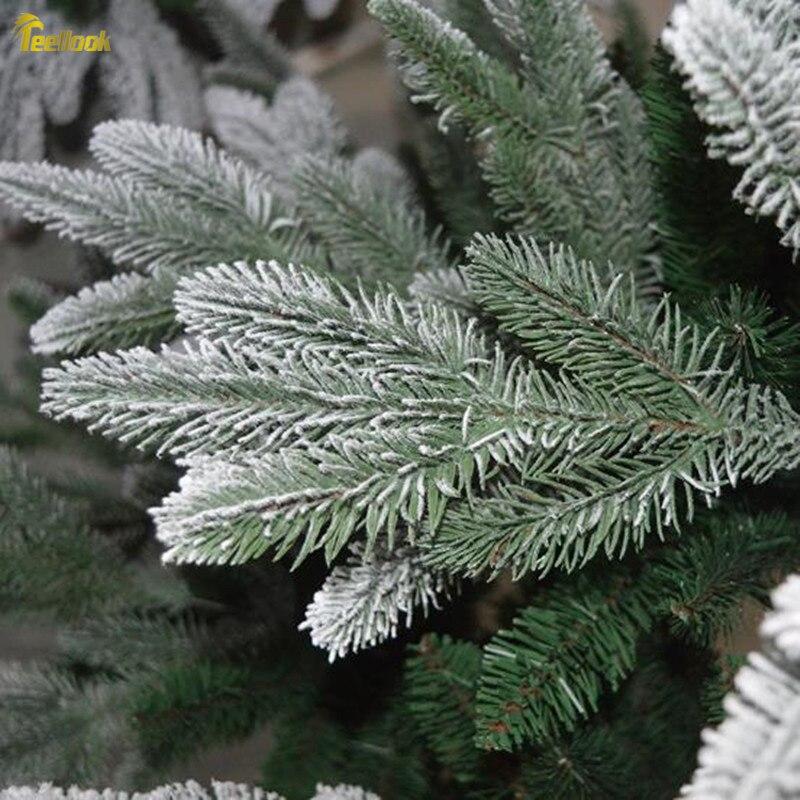 Teellook Снежинка Рождественская елка PE + ПВХ смешанный лист Рождественский отель семейный торговый центр украшение Флокирование дерево - 4