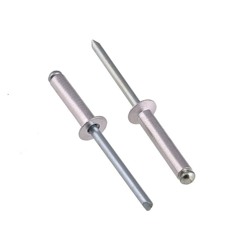 M2.4 M3.0 M3.2 M4 M5 Aluminium Open End Blind Rivets Countersunk Head Rivets