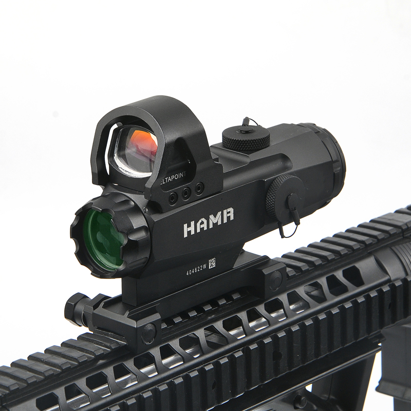 Tactical 4x24mm Rifle Scope Red/Green Reticle illumination Riflescope HAMR For Outdoor Hunting Scopes