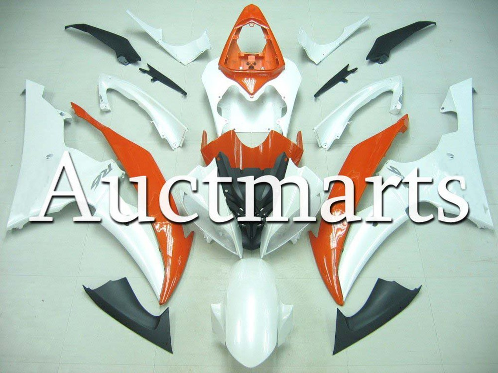 For Yamaha YZFR6 08-14 2009 2010 2011 2012 YZF 600 R6 2008 2013 2014 YZF600R 08-14 inject ABS Plastic motorcycle Fairing Kit 32 unpainted abs plastic front fender fit for yamaha 2008 2012 yzf r6 injection mould motorcycle fairing frame cover part
