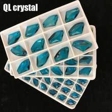 All size Peacock blue AX  Stones and crystals for dresses rhinestones crystal crafts