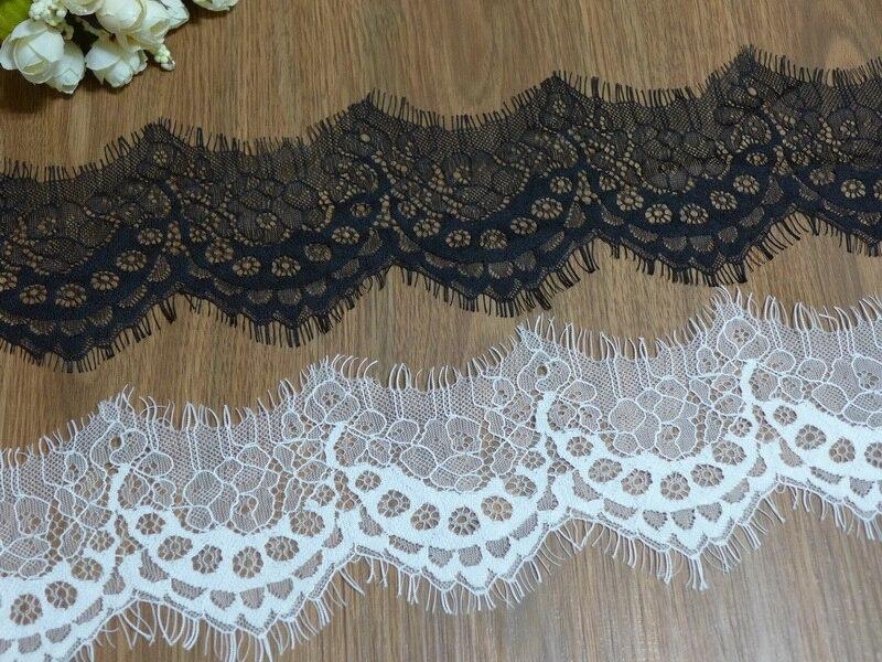 Us 45 10 Offblack White Eyelash Lace Trim Scalloped Lace Trim Wedding Dress Lace Trim Fabric In Lace From Home Garden On Aliexpresscom