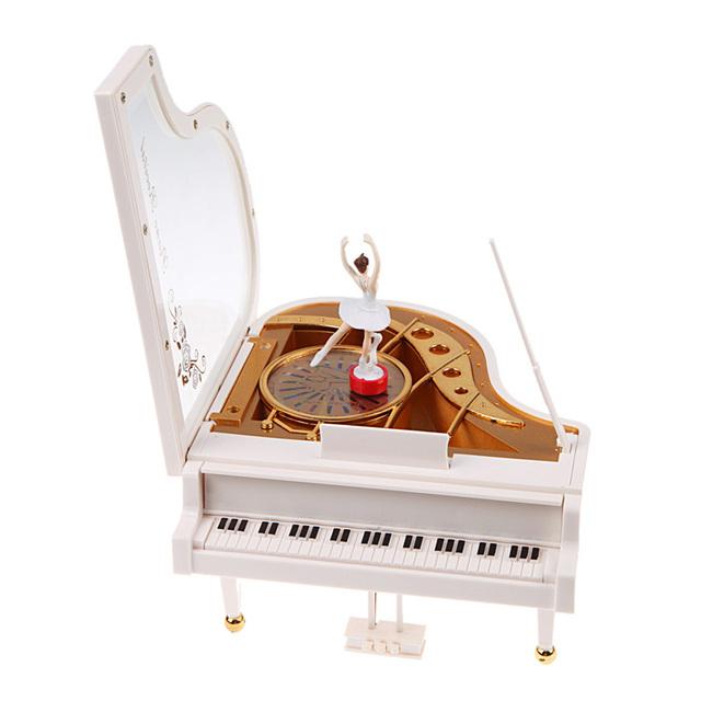 Tipo Clockwork Rotatorio Clásico Muchacha de La Bailarina En El Piano Musical Toy Box Caja De Música con Bailarina Set Niñas de Juguete de Regalo de Cumpleaños