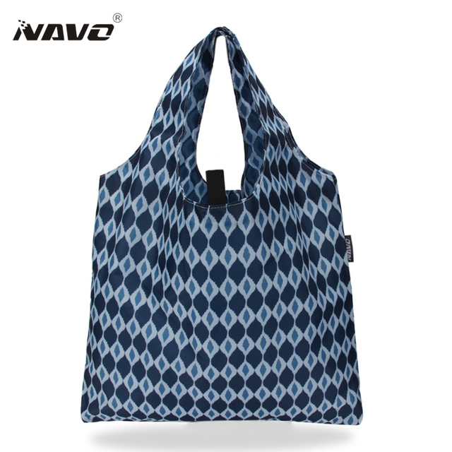 18ac16bbe Polyester Fabric Folding Shopping Bag 2019 Foldable Reusable Grocery Bags  Eco cloth Shopper Tote Portable Travel Bags