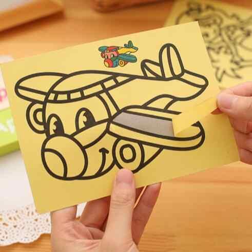 10 unids/lote juguetes de dibujo para niños chico s cuadros de pintura con arena chico manualidades DIY juguete educativo para niños y niñas GYH