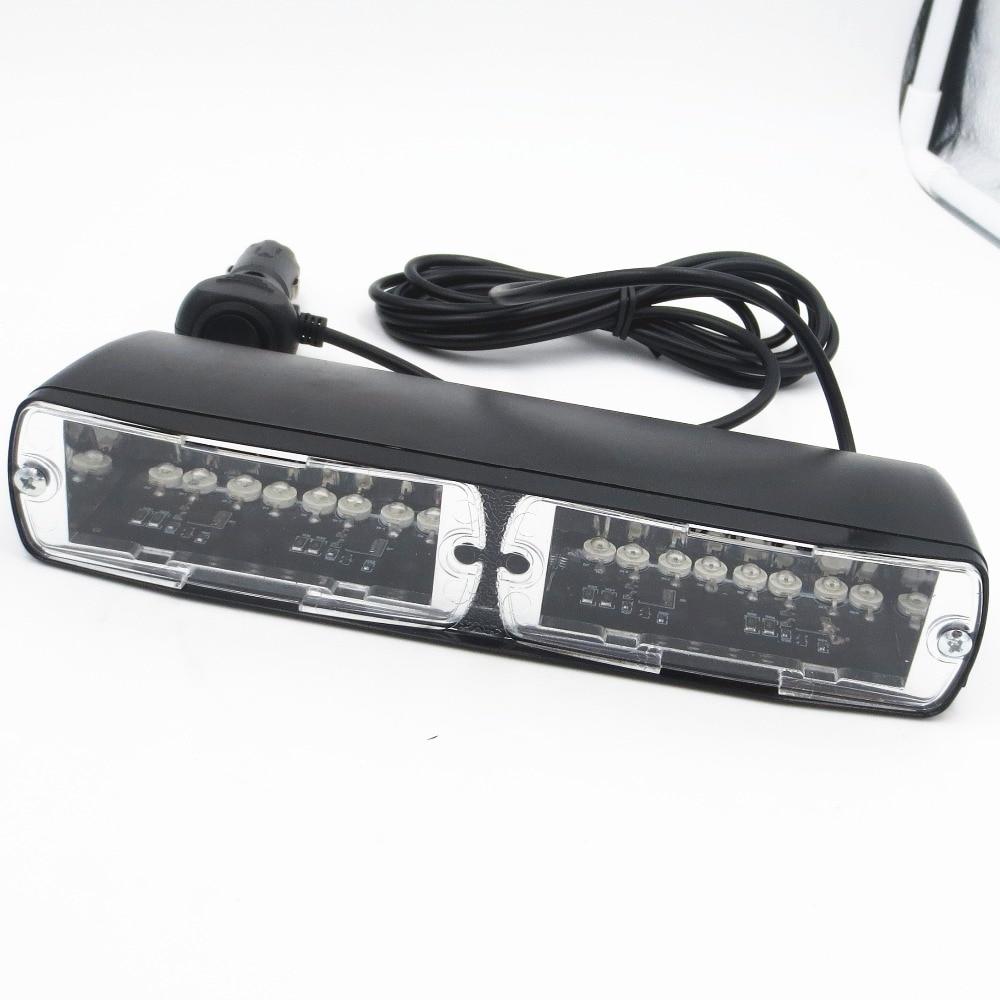 12V 16 LED Car Red /& Blue Police Strobe Flash Light Dash Emergency Warning Lamp