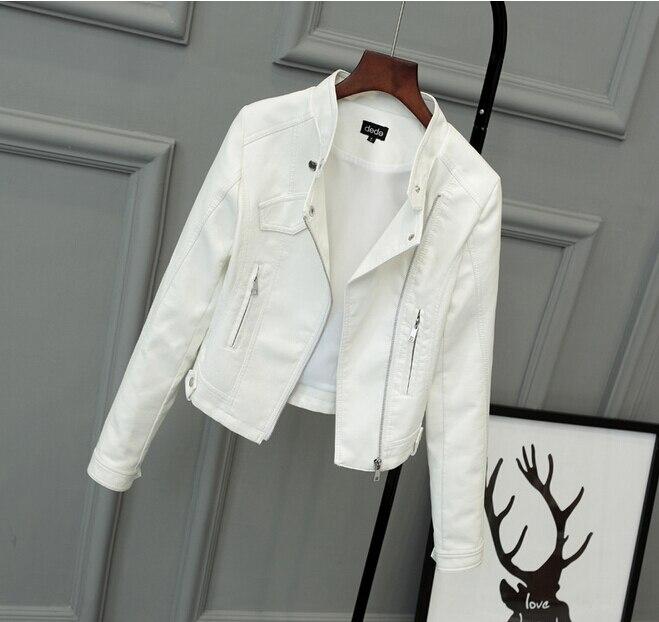 2017 Lika S-XXL New Spring Fashion Bright Colors Good Quality Ladies Basic Street Women Short PU   Leather   Jacket FREE Accessories