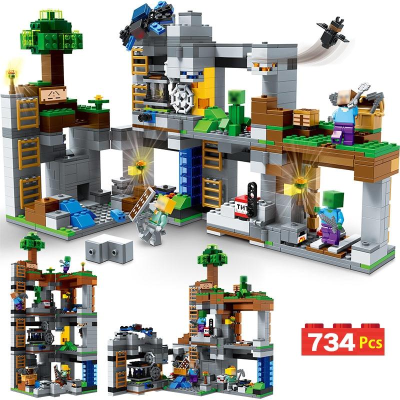 Technic New Blocks My World Compatible LegoINGLYS Minecrafted Cliff Big Adventure Mountain BirthdayToys For Children велосипед kellys cliff 10 2017
