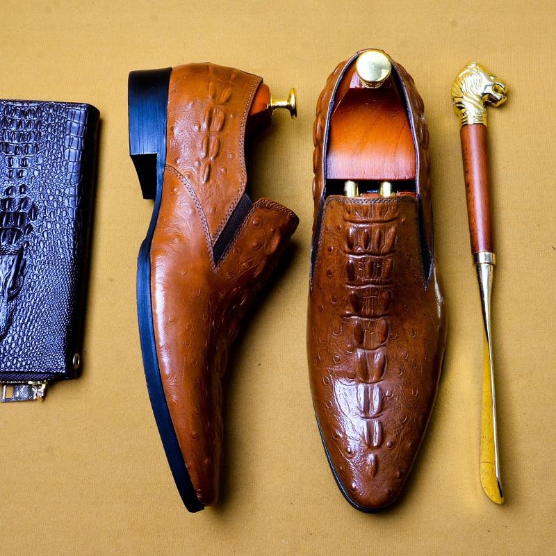 mens formal shoes genuine leather oxford shoes for men black 2019 dress shoes wedding shoes slip
