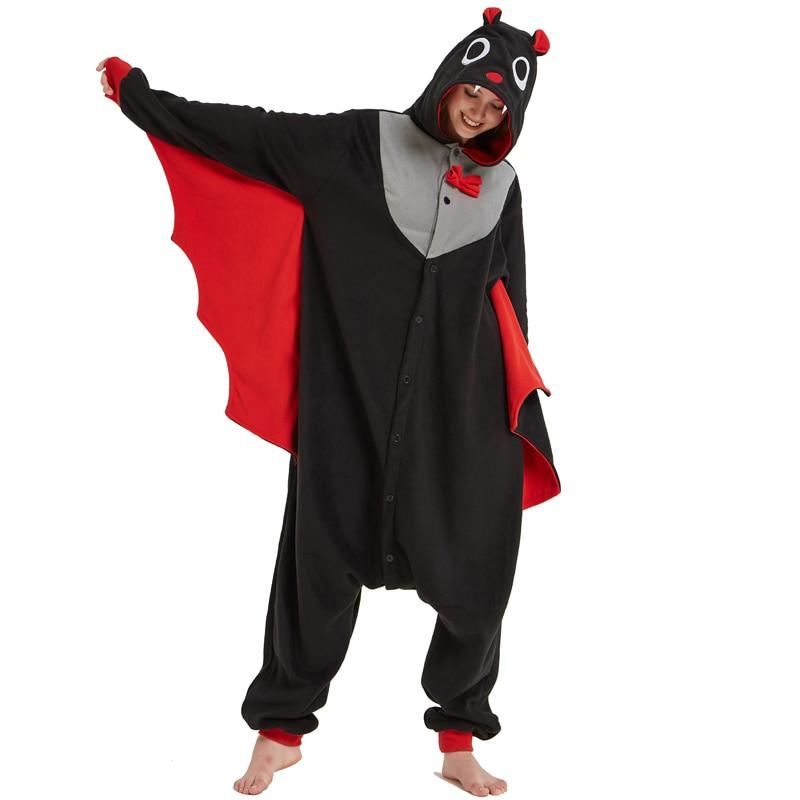 Cool Bat Polar Fleece Kigurumi Pajamas Overall Costume Warm Cartoon Onesie For Adult Halloween Carnival Masquerade Cosplay Party (5)