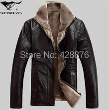 New Free shipping Winter Leather clothing male one piece fur outerwear casual design sheepskin short jacket