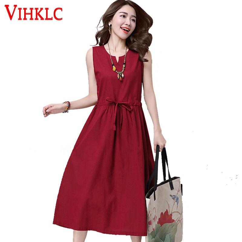 Платье женское, повседневное, без рукавов, однотонное, с треугольным вырезом, большого размера, A636|dresses large sizes|women dresssummer women dress | АлиЭкспресс