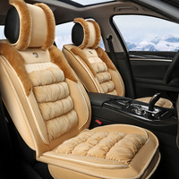OUMANU universal car seat cover soft winter warm plush car stying seat cover for toyota honda nissan mazda suzuki lexus