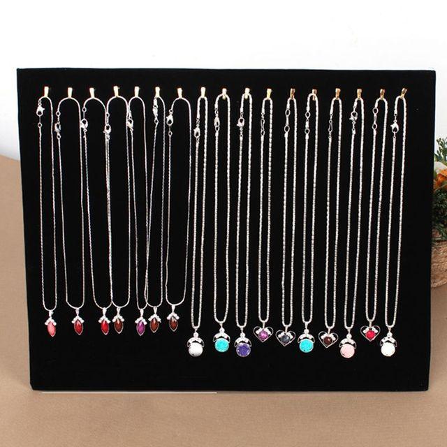 Necklace Display Stand Women Jewelry Organizer Holder Storage Case