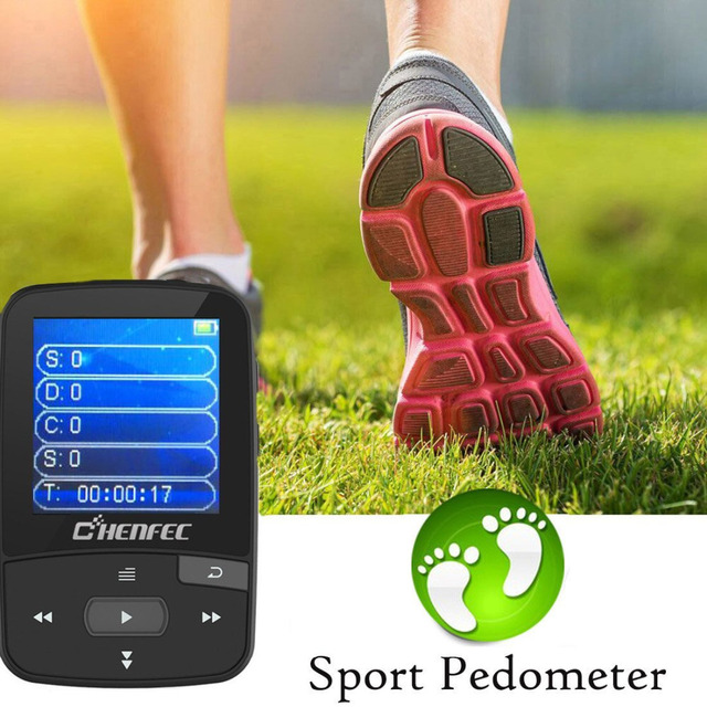 2018 Sport Clip Bluetooth MP3 Music Player Original RUIZU X50 1.5 Inch Screen With FM Radio, E-Book, Clock, Data Free Shipping