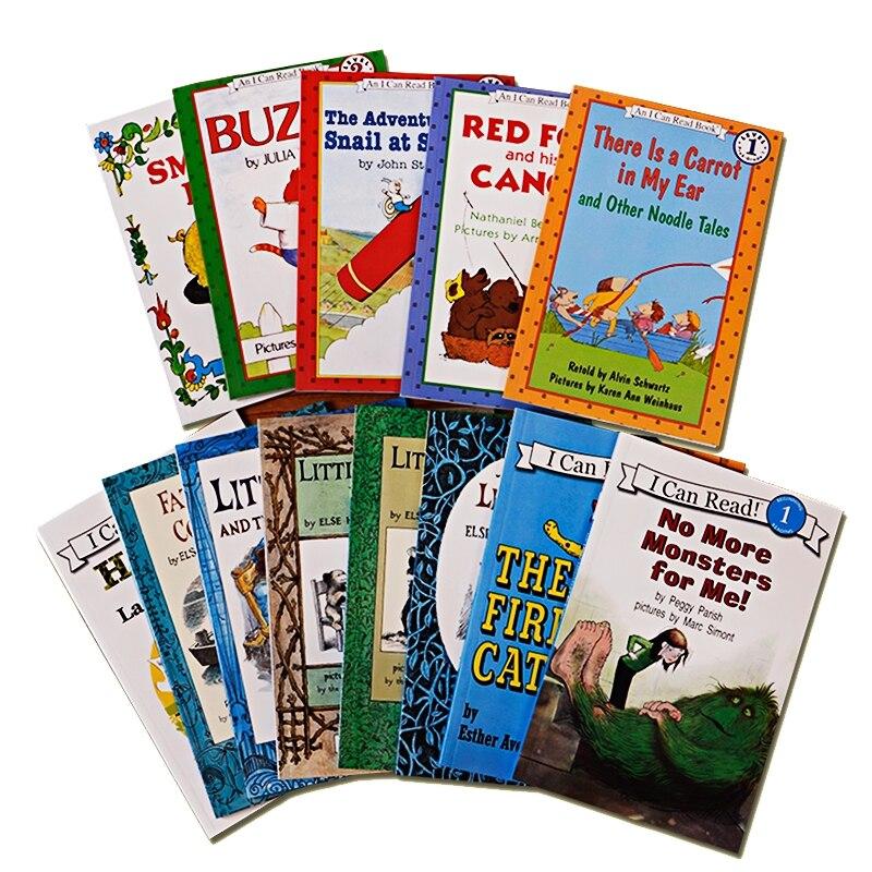 13 livre/ensemble, je peux lire des livres d'images de niveau 2 en anglais pour les enfants, apprendre l'anglais, lire des livres pour les enfants
