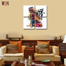 Картина на холсте Будды в рамке дзен картина на стену для гостиной 4 шт. медитация Tableau Peinture Sur Toile холст искусство
