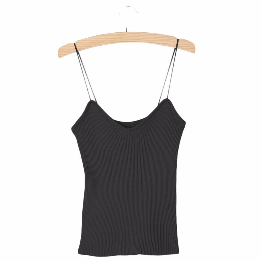 HTB1LmPiPVXXXXcOXXXXq6xXFXXXm - REE SHIPPING 9 Colors Knitted Tank Tops Women Stretchable VNeck Slim JKP311