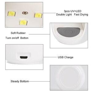 Image 4 - ביצת צורת 3W UV LED מנורת עבור אחת ציפורן אצבע מנורת מסמר ג ל פולני מייבש ייבוש מכונה חכם חיישן 45s / 60s USB מחבר