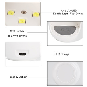 Image 4 - Egg Shape 3W UV LED Lamp for Nail Single Finger Lamp Nail Gel Polish Dryer Drying Machine Smart Sensor 45s / 60s USB Connector