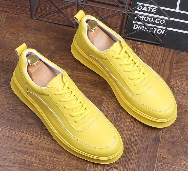 4 Haute Dentelle 2 Jaune À up 1 Conduite Mocassins De Designer Pour Sheos La Mode Blanc Tops Créateur Homme 3 Style Chaussures Confort Hommes Mâle qSxXfw7f