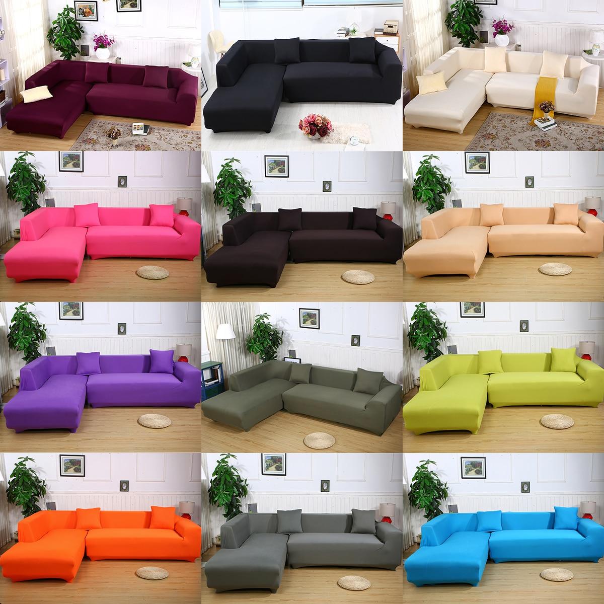 4 Seater Elastic Sofa Cover Tight Wrap All inclusive Slip resistant ...