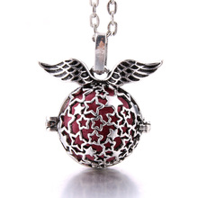 2019 New Aromatherapy Necklace Vintage Hollow star cage Pendant Necklace Essential Oil Diffuser Perfume Open Locket Necklace new aroma diffuser necklace vintage birdcage open cage pendant perfume essential oil aromatherapy locket pendant necklace